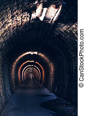 Endless tunnel as abstract background