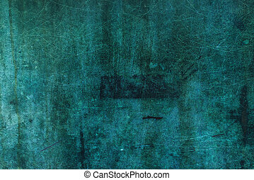 Oxidized copper plate surface texture, abstract corroded...