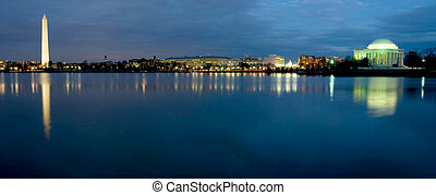 Washington D.C. Panoramic - Beautiful panoramic view of...