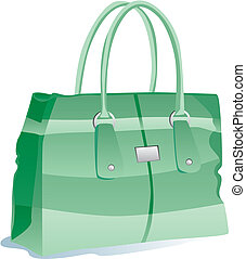 illustration of isolated bag