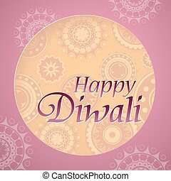 Diwali festival greeting card design with traditional...