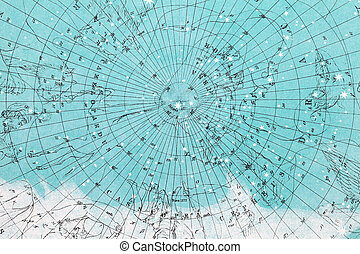 planisphere pattern paper - Close up of planisphere pattern...