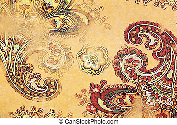 paisley pattern paper - Close up of paisley pattern paper,...