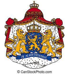 Netherlands coat of arms on white