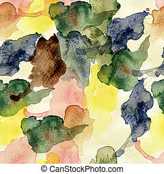 Absract seamless wallpaper, watercolor illustration
