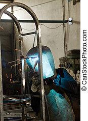 metalworker workshop during job time