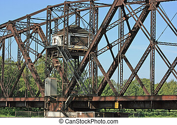 Old Swing Bridge - Old swing bridge in Sault Ste. Marie,...