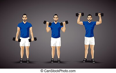 training shoulder press trio
