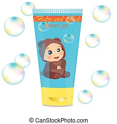 Baby lather tube with kids design - High quality original...
