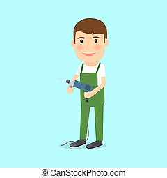estilo, reparador, caricatura