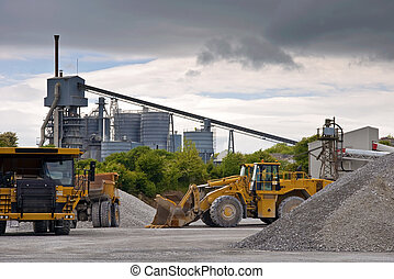 heavy large industrial stone quarry machinery - photo heavy...