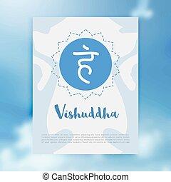 Chakra Vishuddha icon, ayurvedic symbol, concept of...