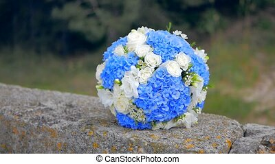 bridal bouquet of blue roses - bridal bouquet of blue and...