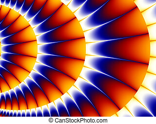 Multicolored abstract background, fractal