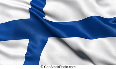 Finland flag seamless loop