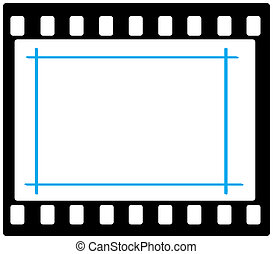 35mm frame with markup - Artwork of 35mm film frame with...
