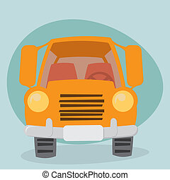 Cartoon Truck - front view
