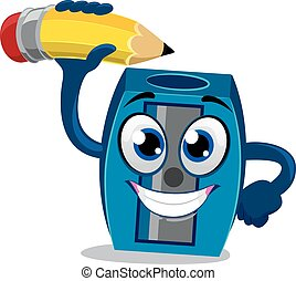 Sharpener Mascot sharpening Pencil