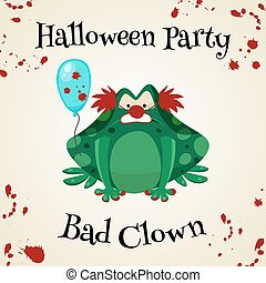 Halloween green toads fashion costume outfits. Cartoon style...