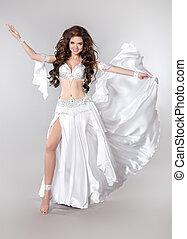 Belly dance. Bellydancer. Beautiful brunette Gorgeous...