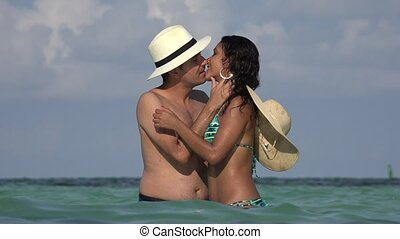 Couple Kissing Married Or Dating Summer Vacation