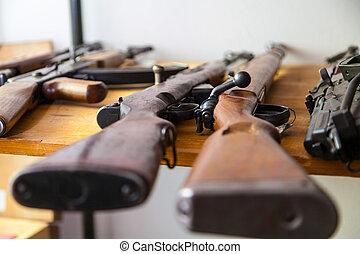 armas, tabla,  Carabiner, viejo