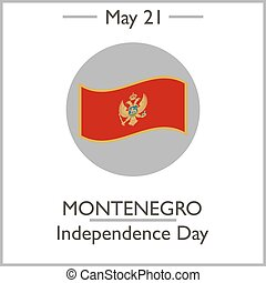 Montenegro Independence Day, May 21. Vector illustration for...