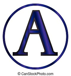 Alpha Greek Letter - Alphai a letter from the Greek alphabet...
