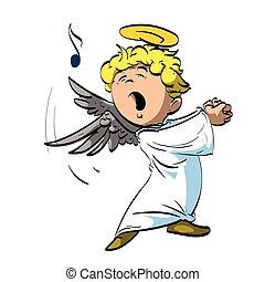 A singing angel