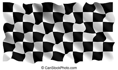 Black and white checked - Black and white checkers, the...
