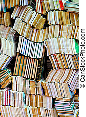 Books stack - Big pile of new and old books