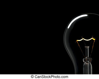 Bulb light over black - A light bulb over a black background...