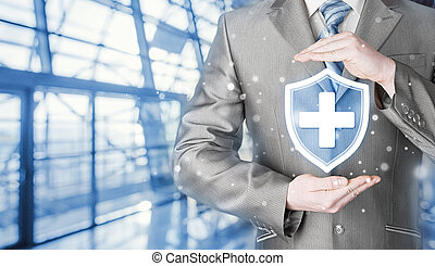 Health protection and insurance. Medical healthcare....