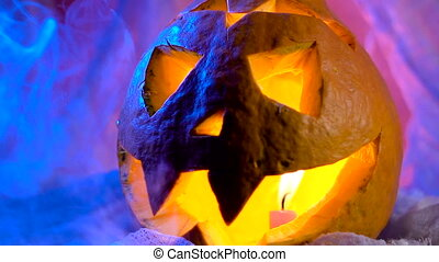 Pumpkin head ready to decorate a holiday hallovin. All...
