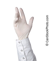 Latex glove - A doctor is wearing a latex glove