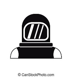 Astronaut icon in simple style