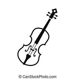 Cello icon in simple style on a white background vector...