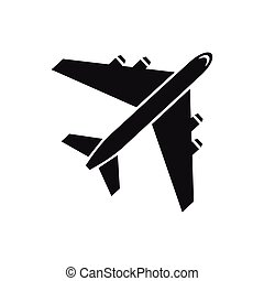 Passenger airliner icon, simple style