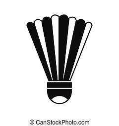 Shuttlecock icon, simple style - Shuttlecock icon in simple...