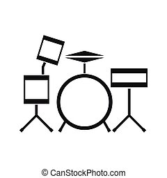 Drum kit icon, simple style - Drum kit icon in simple style...