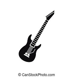 Electric guitar icon, simple style - Electric guitar icon in...