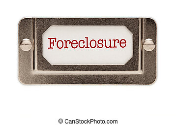 Foreclosure File Drawer Label