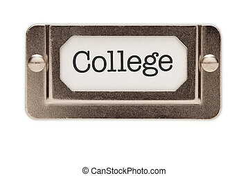 College File Drawer Label