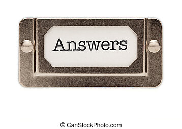 Answers File Drawer Label