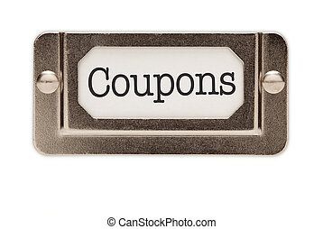Coupons File Drawer Label