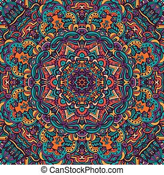 colorful floral vector ethnic tribal pattern - Abstract...