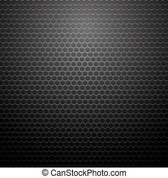 Metallic Perforated Texture. Dark Carbon Pattern