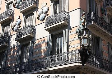 Casa Bruno Cuadros, Ramblas of Barcelona - Premodernist...