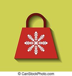 christmas shopping bag icon