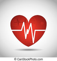 heart cardio pulse icon vector illustration design